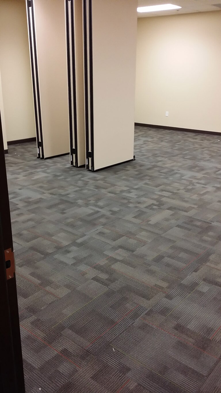 Commercial carpet tiles in Suwannee GA by Purdy Flooring & Design