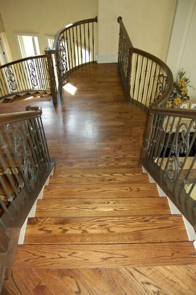 Wood stair installation in Fort Worth TX from Masters Flooring