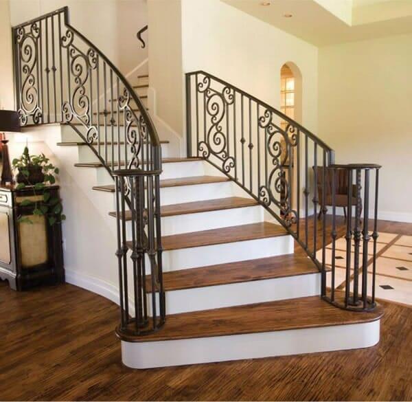Wooden stair installation in Keller TX by Masters Flooring