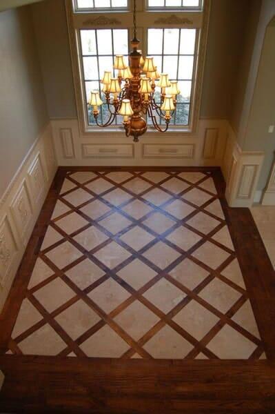 Custom hardwood floor installation in North Ridgeland Hills TX by Masters Flooring