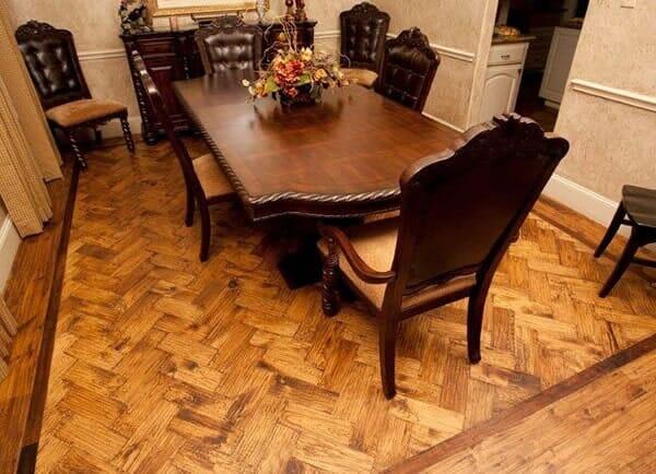 Custom wood floor installation in Southlake TX by Masters Flooring