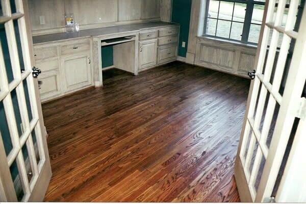 Wood floor installation in Keller TX by Masters Flooring