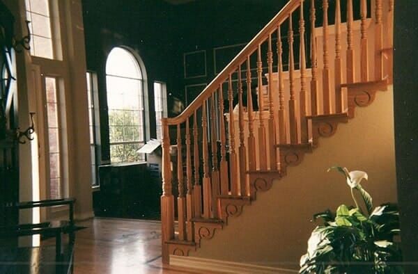 Wood staircase in Keller TX by Masters Flooring