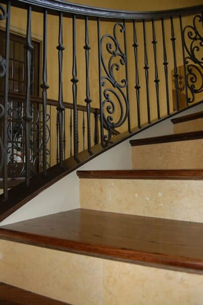 Wood staircase installation in Fort Worth TX by Masters Flooring