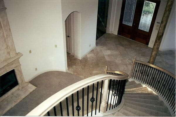 Spiral staircase installation in Southlake TX by Masters Flooring