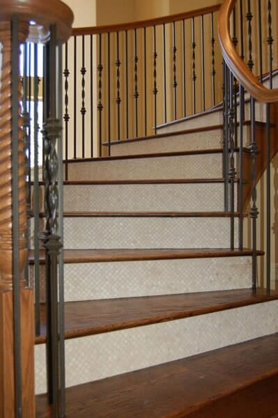 Custom bannister in Southlake TX by Masters Flooring