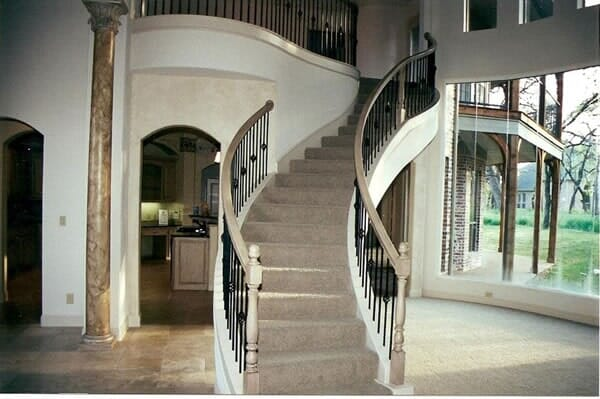 Custom staircase in Colleyville TX by Masters Flooring
