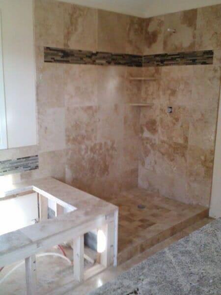 Custom tile bathroom in Keller TX by Masters Flooring