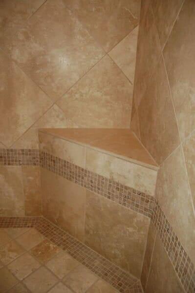 Custom tile bath in Southlake TX by Masters Flooring