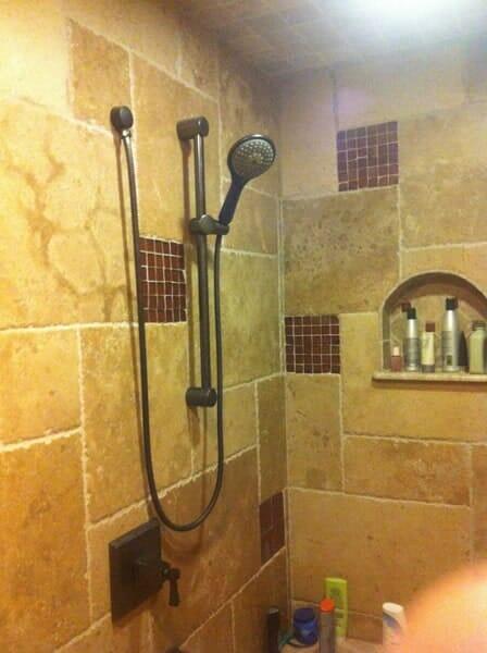 Custom tile bathroom installation in North Ridgeland Hills TX by Masters Flooring