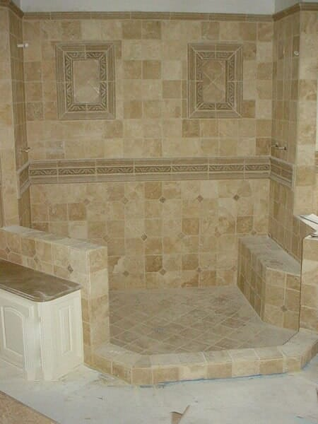 Custom tile bathroom in Fort Worth TX by Masters Flooring