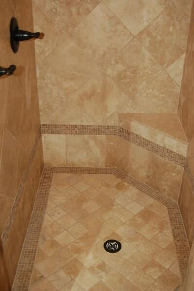Custom tile shower in Fort Worth TX by Masters Flooring