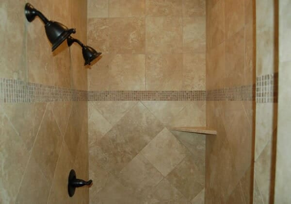 Custom tile shower in Southlake TX by Masters Flooring