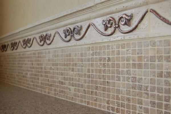 Custom tile backsplash in North Ridgeland Hills TX by Masters Flooring