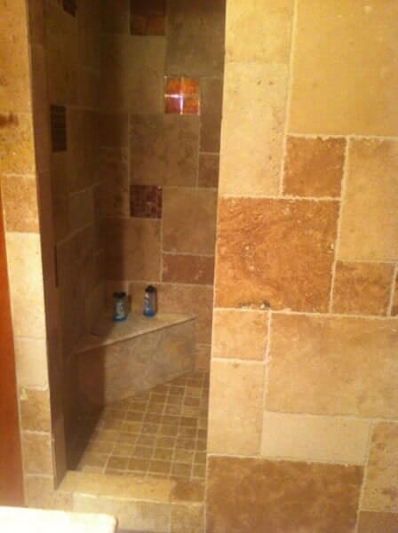 Walk in tile shower in Southlake TX by Masters Flooring