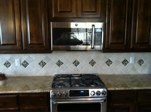 Kitchen backsplash installation in Southlake TX by Masters Flooring