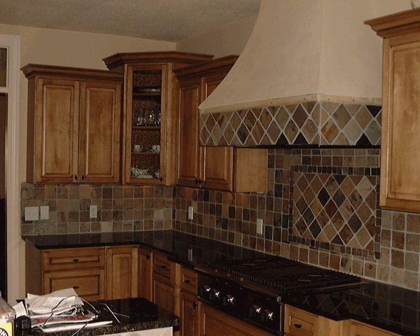 Custom tile backsplash in Colleyville TX by Masters Flooring