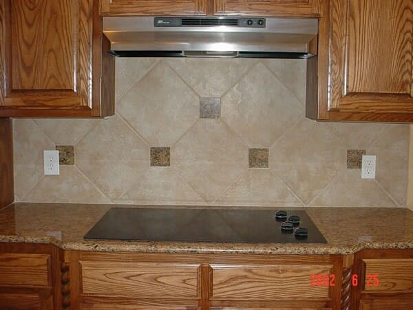 Kitchen backsplash installation in North Ridgeland Hills TX by Masters Flooring