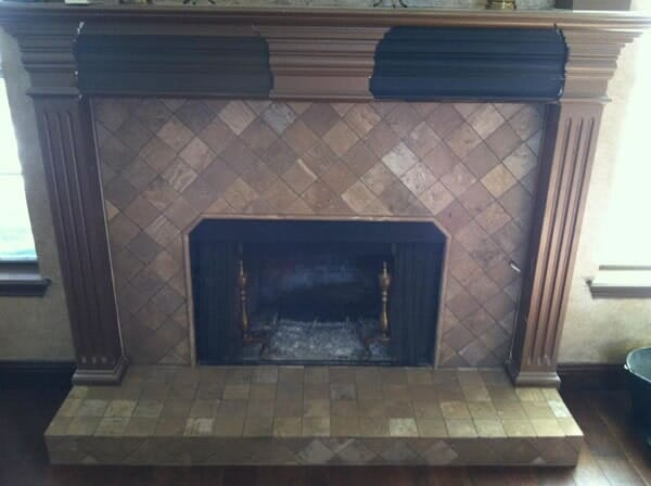 Fireplace refacing in Fort Worth TX by Masters Flooring