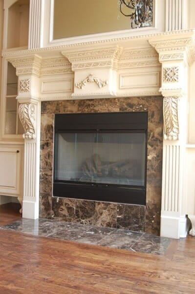 Fireplace refacing in Southlake TX by Masters Flooring