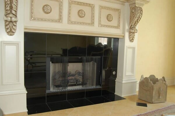 Custom fireplace installation in North Ridgeland Hills TX by Masters Flooring
