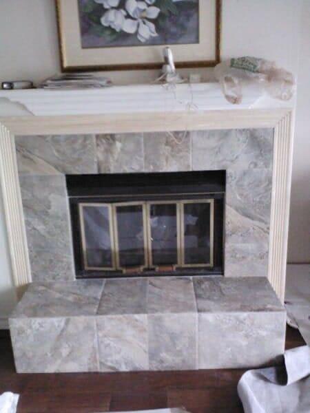 Fireplace refacing in Keller TX by Masters Flooring