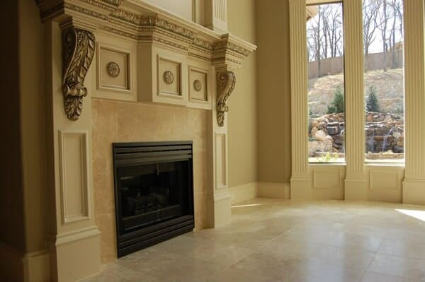 Custom fireplace tile in Southlake TX by Masters Flooring