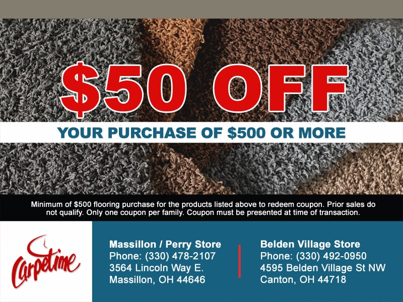 Discount flooring in Massillon and Canton OH