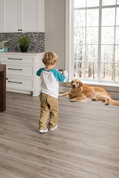 Pet friendly vinyl flooring in Lake Oswego, OR from Marion's Carpet & Flooring Warehouses