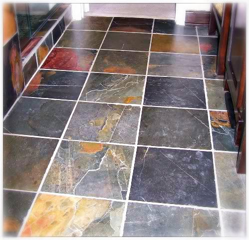 Custom slate flooring installation in Tacoma WA by Hillside Floor Covering