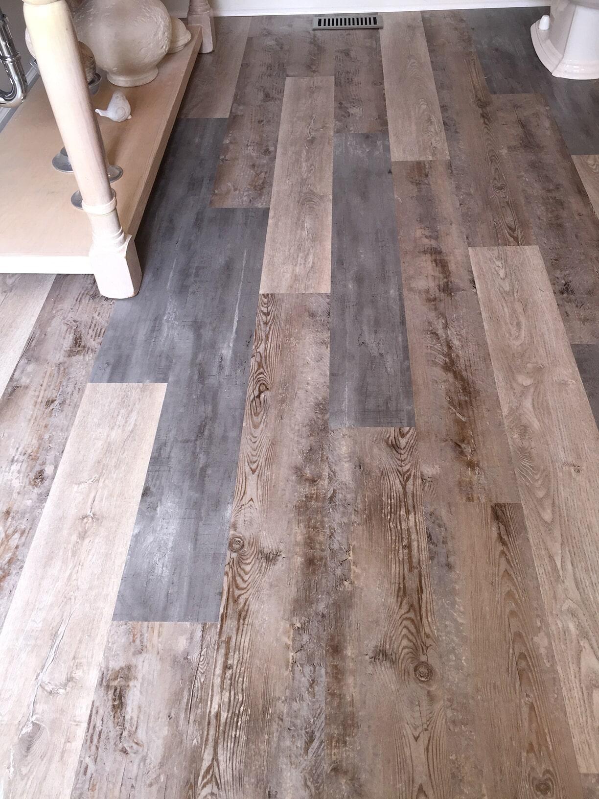 Wood look bathroom floors in Kenley NC from Richie Ballance Flooring
