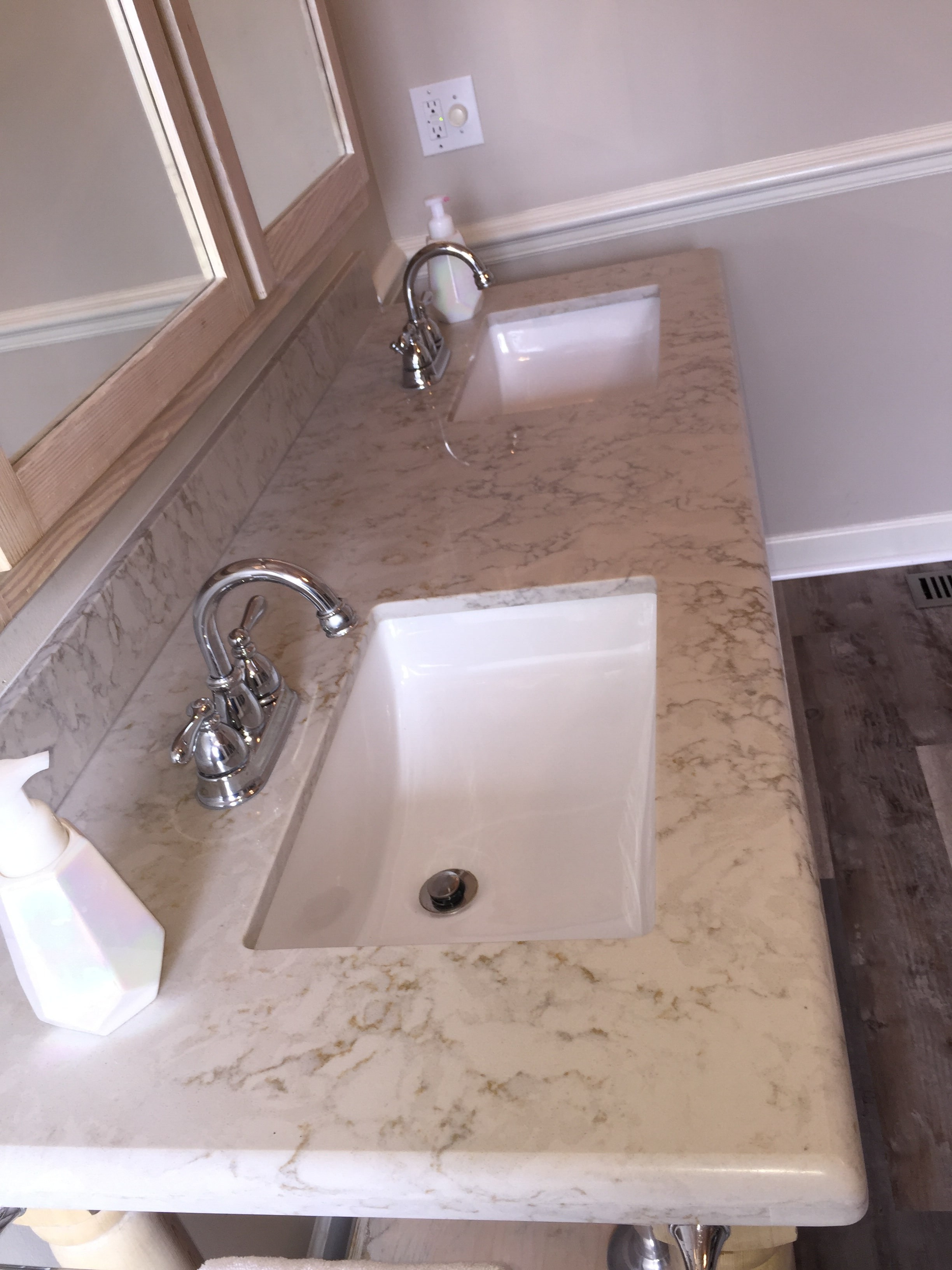Bathroom sink in Wilson NC from Richie Ballance Flooring