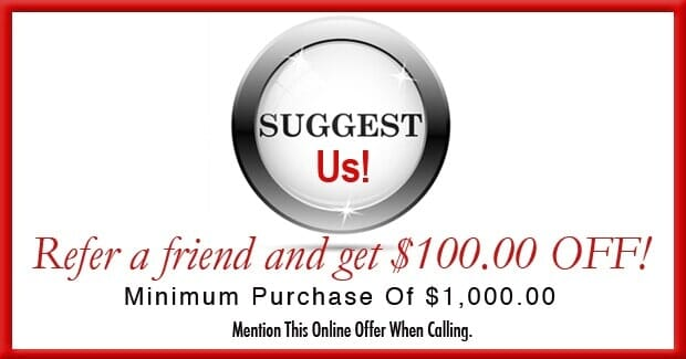Suggest us! Refer a friend and get $100 off!lol