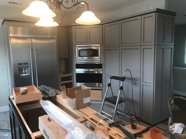Kitchen cabinet refacing in Alpharetta, GA by Select Floors