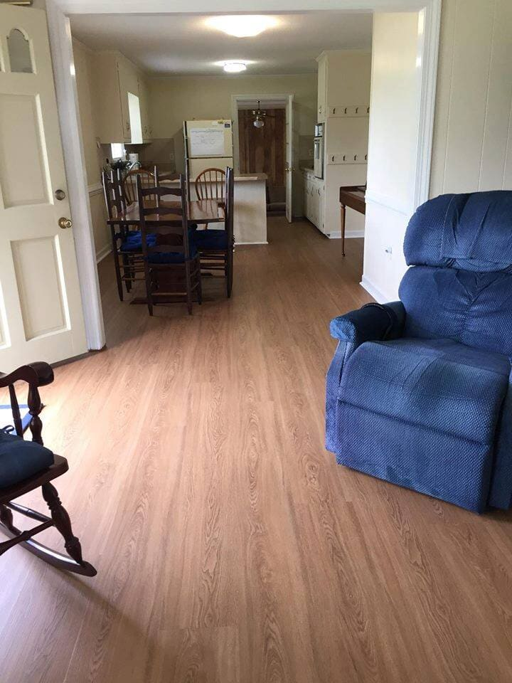 After luxury vinyl plank installation in Elm City NC from Richie Ballance Flooring