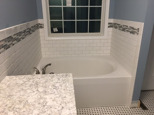 Bathroom rile in Uniontown OH from Barrington Carpet & Flooring Design