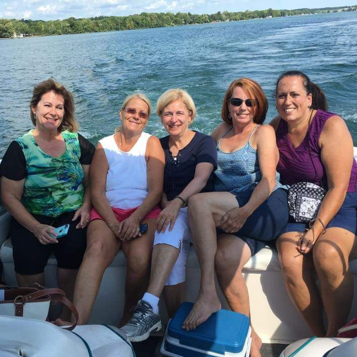 Women enjoying a Captain Jim's Wine Cruise