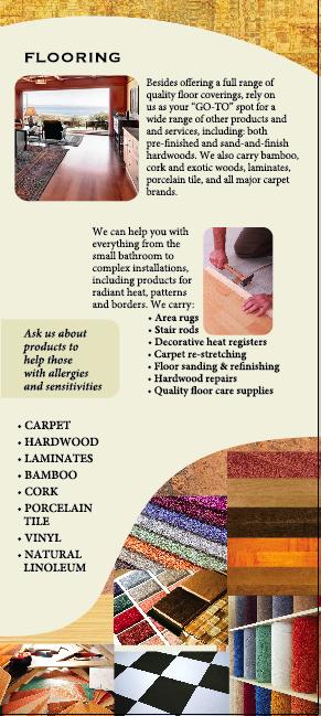 Flooring information for Interior Vision Flooring & Design in Scotts Valley, CA