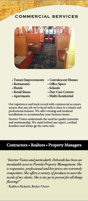 Commercial Services from Interior Vision Flooring & Design in Aptos, CA