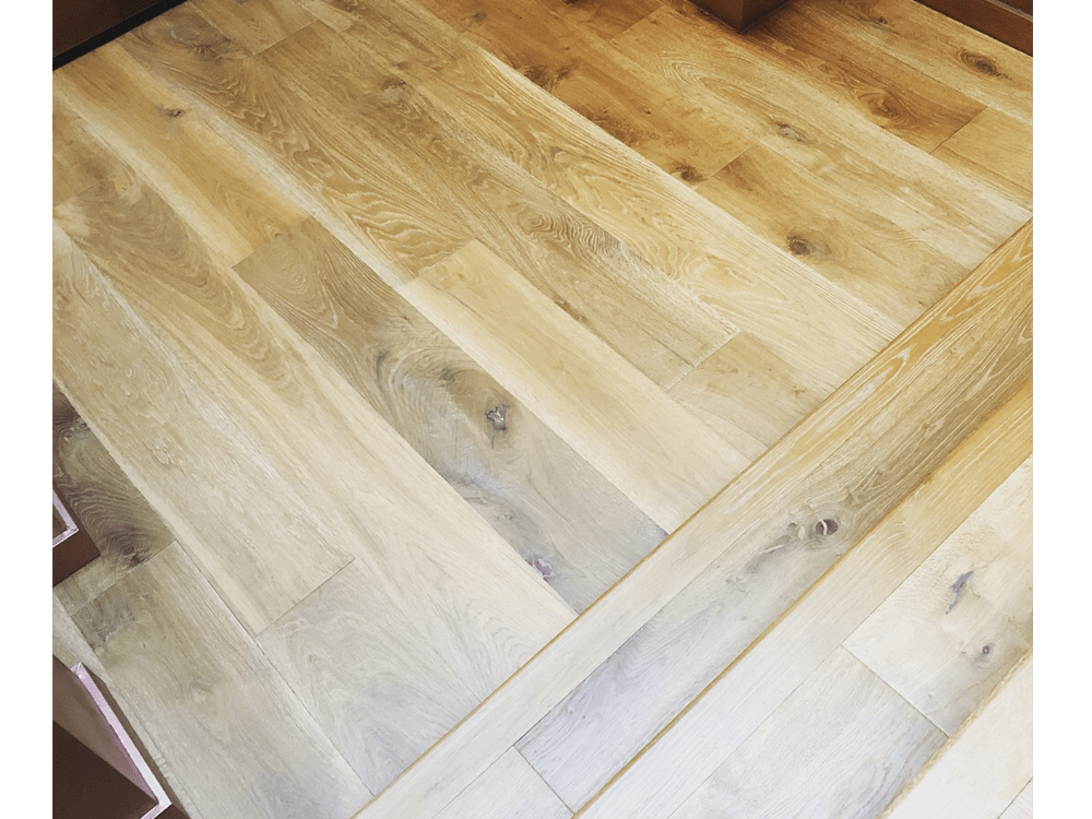 "Artisan - Villa Blanca - Avila - European white oak - 9"" wide - up 7' long boards - smoked hardwood - UV urethane finish"