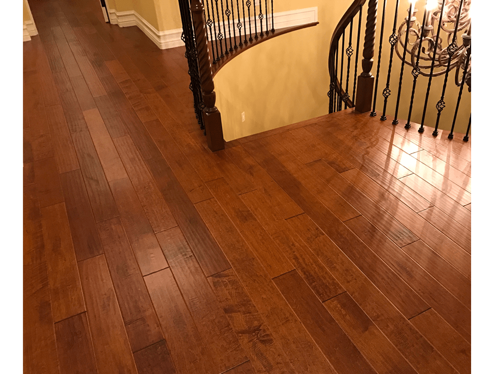 "Garrison hardwood - Carolina classics - 5"" Monroe maple - handscraped - custom pattern 4"