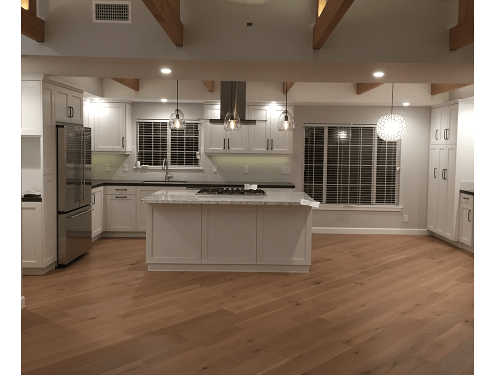 Latitude hardwood - rocky art - European oak - diagonal install - wide planks