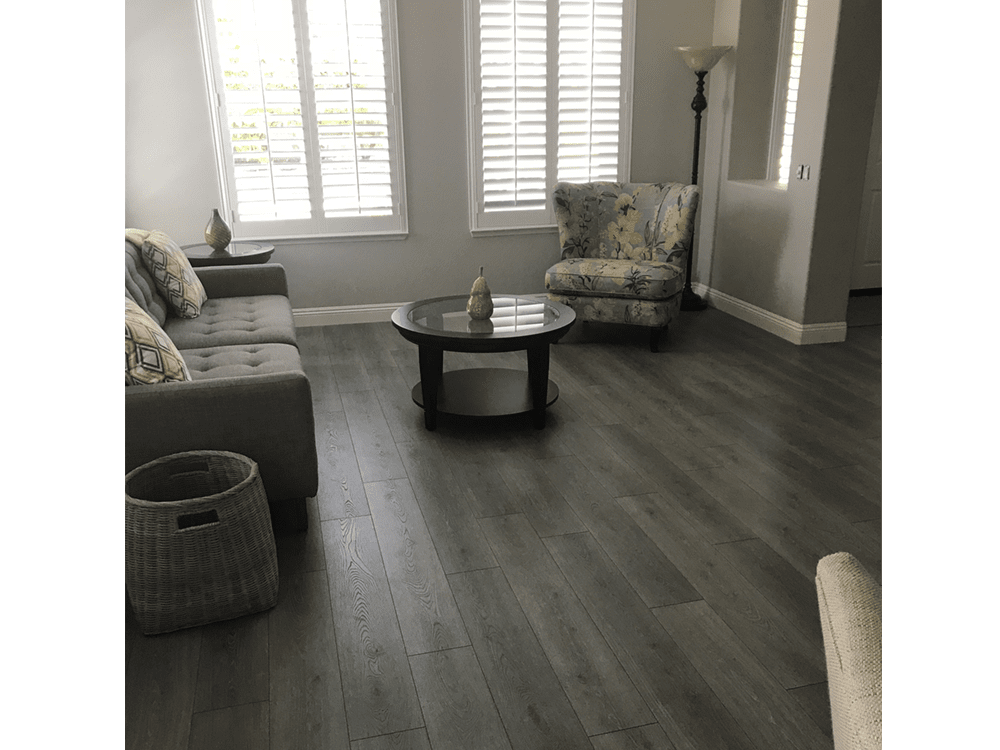 Laminate by Mohawk  - boardwalk collection - graphite oak - made in USA - fake or real wood-3