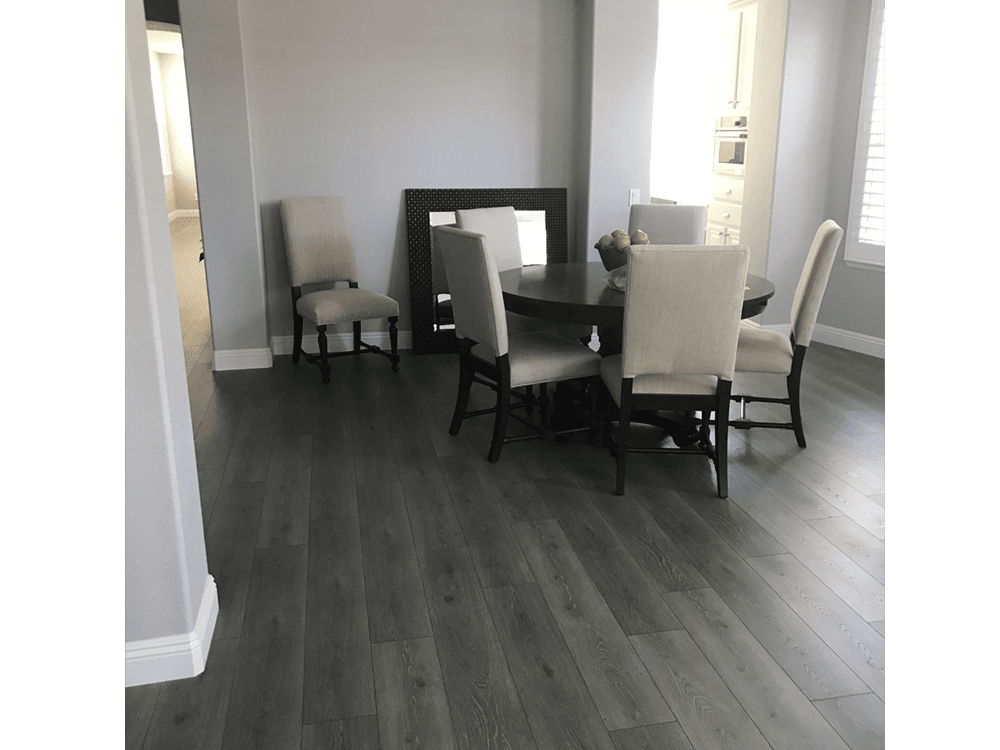 Laminate by Mohawk  - boardwalk collection - graphite oak - made in USA - fake or real wood-4