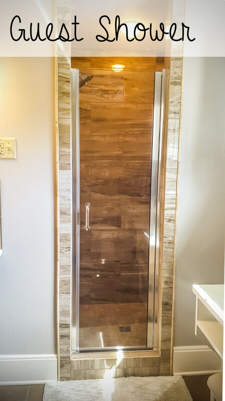 Custom guest shower in Hopkinsville KY from Coal Field Flooring