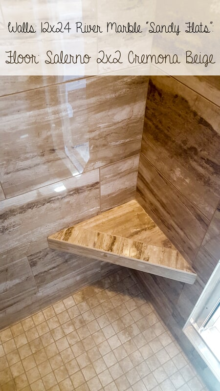 River marble shower seat in Central City KY from Coal Field Flooring