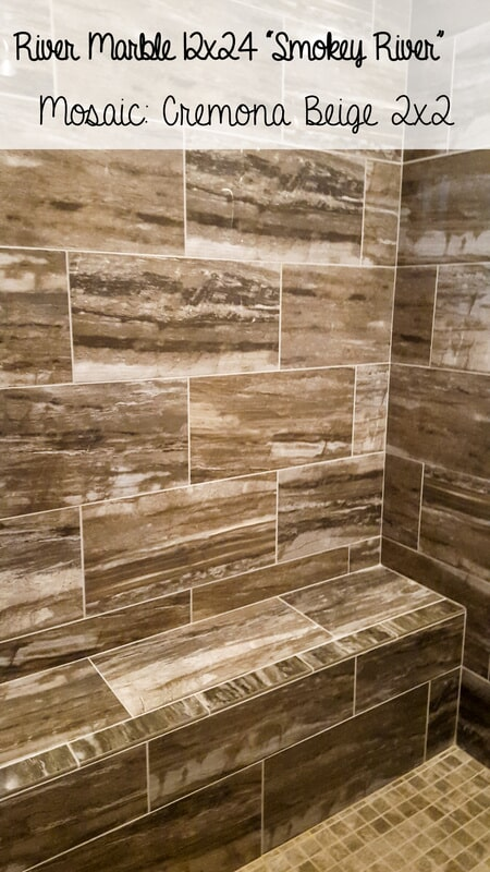 Luxury River Marble showers in Eddyville KY from Coal Field Flooring