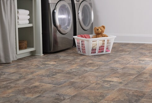 Luxury vinyl in laundry room