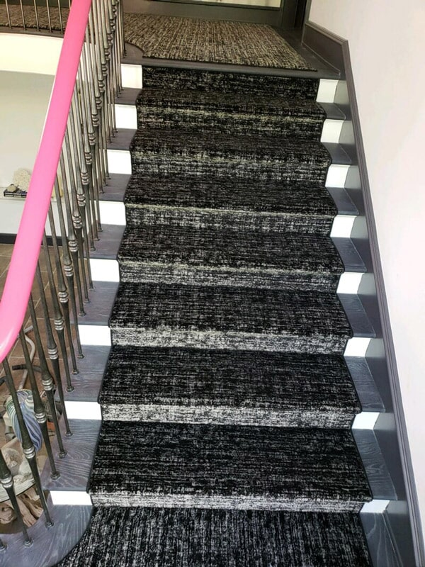 Custom carpet stairs in Stamford CT from Floor Covering Warehouse