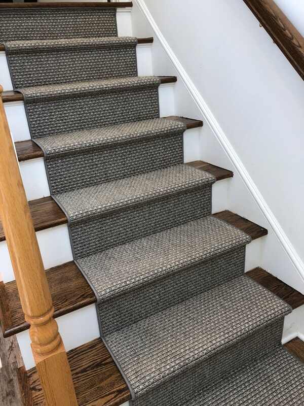 Patterned stairs runners in Fairfield County CT from Floor Covering Warehouse